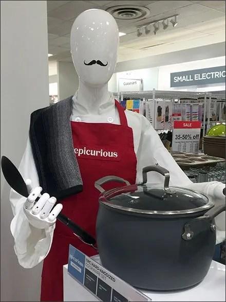 JCPenney® Epicurious Moustache Merchandising