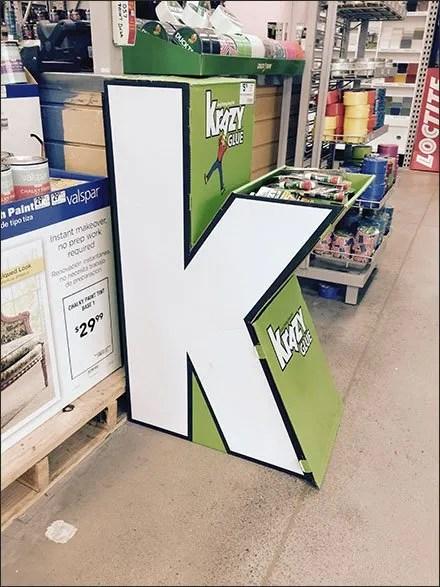 Glue Store Fixtures - Krazy Glue® Branded In-Store Dimensional Display
