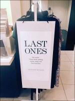 Last-Ones Seasonal Sale Sign