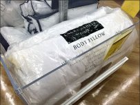 Laura Ashley Body Pillow Bulk Bin in Clear Acylic
