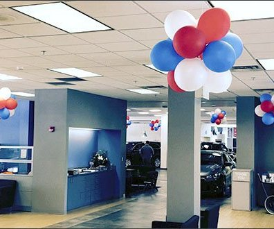 Mercedes Dealership Balloon Decor