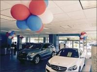 Mercedes-Benz Balloon Decor Celebrates Sale
