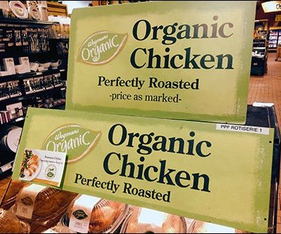 Organic Chicken Merchandising Sign 2