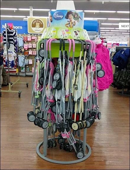 Circular Disney Stroller Floor Rack