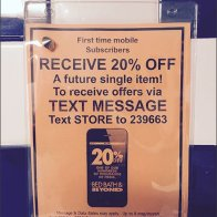 Text from Restroom Merits a Discount 3