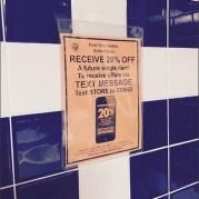 Restroom Text Merits Discount