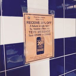 Restroom Text Merits Discount