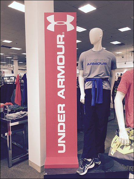 Under Armour Color-Coordinated Vertical Signs