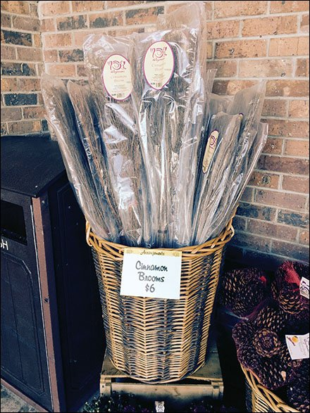 Spice Up Cinnamon Sweep Merchandising With Wicker