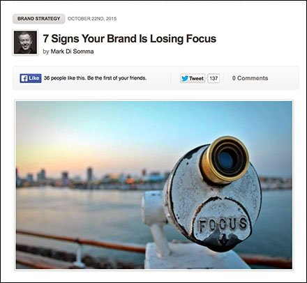 Signs That Your Brand Is Losing Focus