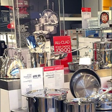 All Clad Branded Island Cookware Display 3