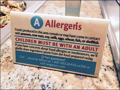 Retail Allergens Alert For Children