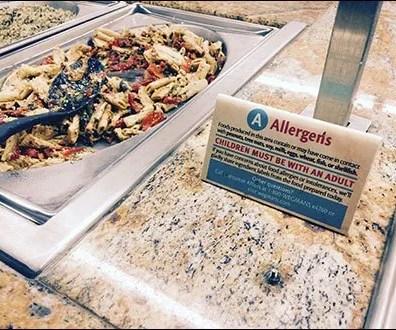 Allergens Alert at Food Buffet 2