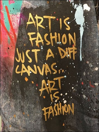 Art is Fashion Just A Different Canvas