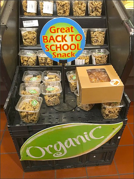 Table-Stand Pitches Organic Snacks for School