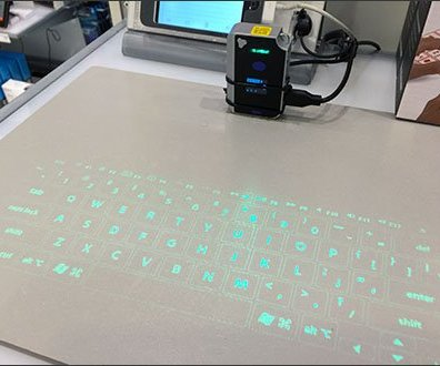 Brookstone Virtual Keyboard Display 2