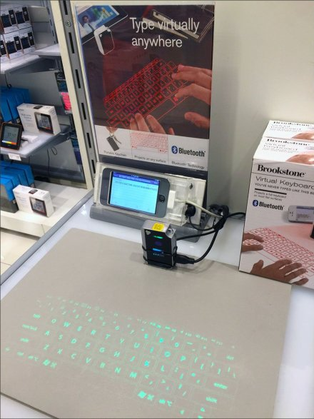 Brookstone Virtual Keyboard Point-of-Purchase Display