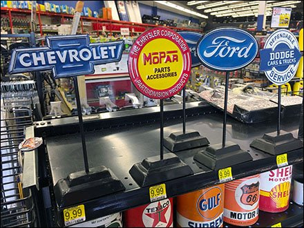 Carmaker-Branded Table Stand Signs