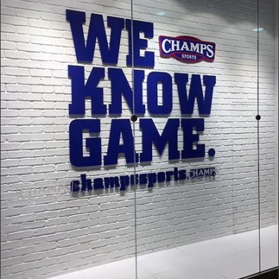 Champs We Know The Game Branded Window 1