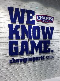 Champs We Know The Game Branded Window 2