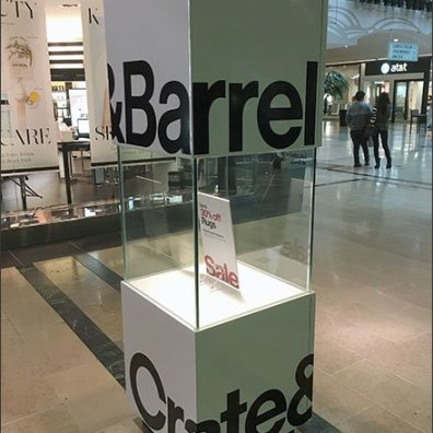 Crate Barrel Mall Concourse Cubist Branding