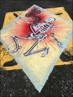 Halloween Parking Lot Graphic from Retail