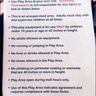 Kidgets® Playground Rules At The Mall