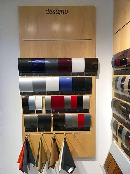 Mercedes Designo Color Swatch Display