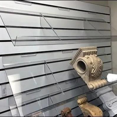 Clear Acrylic Slatwall Shelves Decline