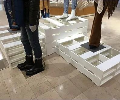 Palletized Pedestals in Apparel 1