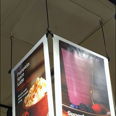 Panera Bread 3-Sided Ceiling Banner 2
