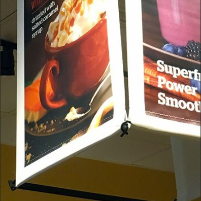 Panera Bread 3-Sided Ceiling Banner 3
