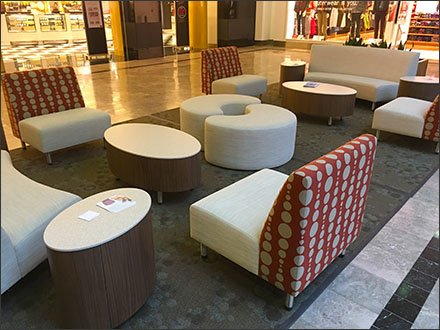 Snuggle-Some Seating At The Mall