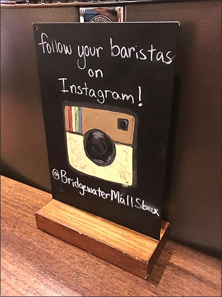 Follow Your Starbucks® Barista on Instagram