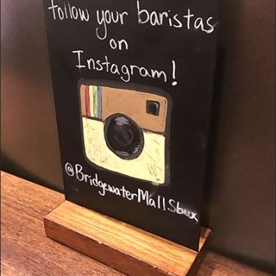 Follow Your Starbucks® Barista on Instagram