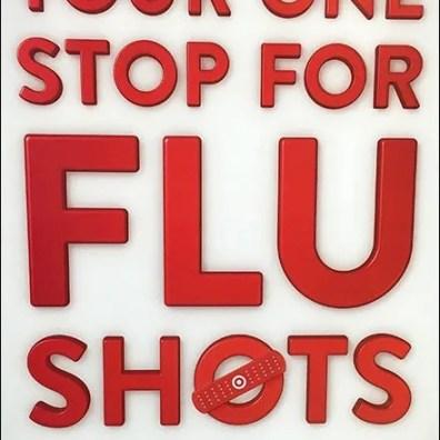 Target One Stop for Flu Shot Vertical Sign 2