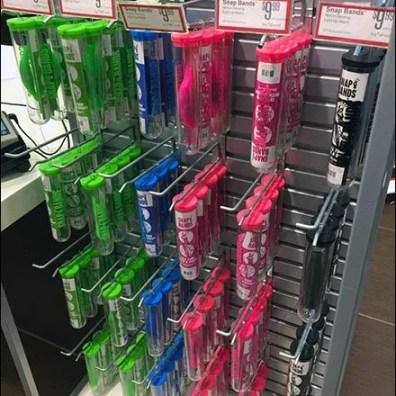 Test Tube Merchandising Slatwall Hooks