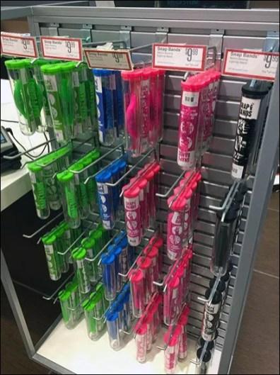 Test Tube Slatwall Merchandising Hooks 1