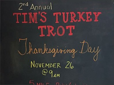 Turkey Trot Thanksgiving Chalkboard 2