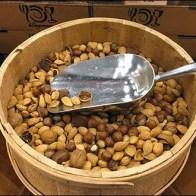 Bulk Barrels of Nuts CloseUp