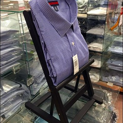 Dress Shirt Display by Easel