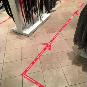 Express Follow The Floor Graphic Directional