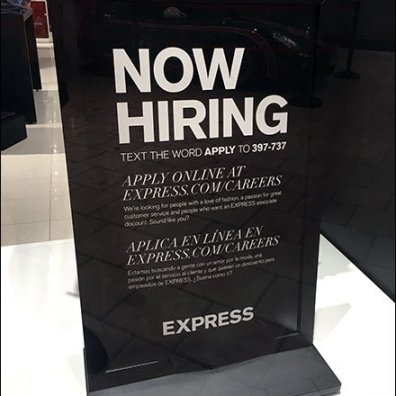 Express Now Hiring Men Aux