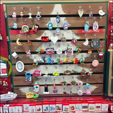 Faux Pallet Christmas Ornament Display