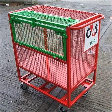 Trolley and Transfer Carts - Loredo Flip Open Security Trolly