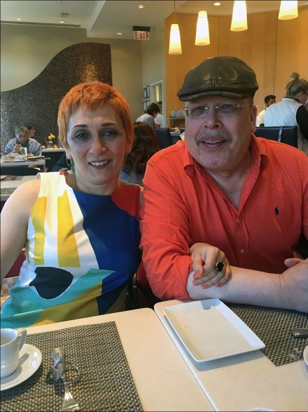Margarit and Tony Fixturing Lunch Break At Neiman Marcus Cafe
