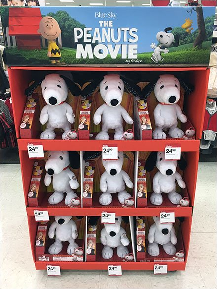 Peanuts The Movie Plush Point-of-Purchase