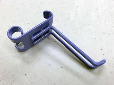 Purple 90º Loop Hook for Bar 1