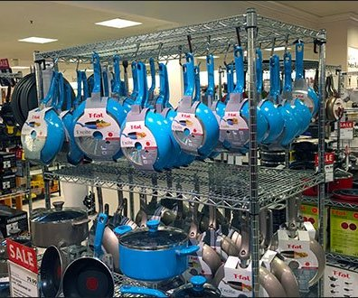 T-Fal Blue Cookware Custom S-Hooks 1