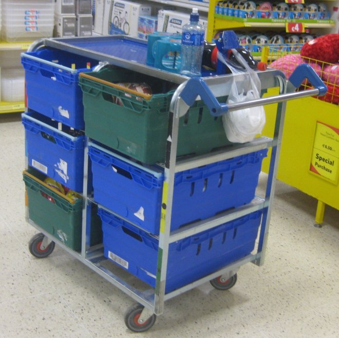 Euro Fixtures: Tesco Visual Merchandising Trolley